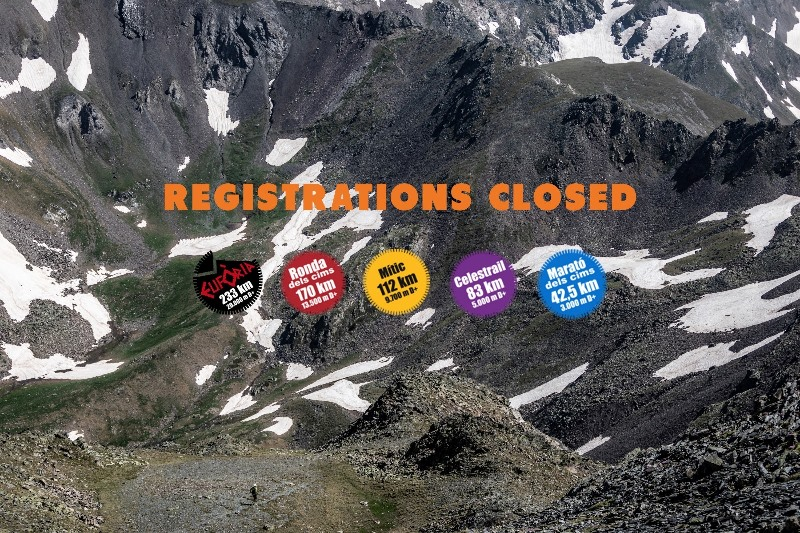 Races' registrations closed